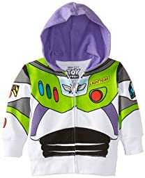 Disney Little Boys\' Buzz Lightyear Hoody Toddler, White, 3T