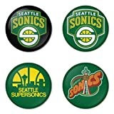 "Seattle SuperSonics NBA Round Badge 1.75"" Pinback Amazon.com"