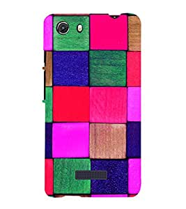 printtech Tiles Back Case Cover for Micromax Q372 Unite 3