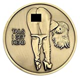 Nude Girl Heads and Tails Flipping Challenge Coin