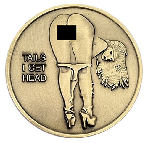 Nude Girl Heads and Tails Flipping Challenge Coin (Heads And Tails Coin compare prices)