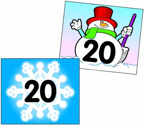 Carson Dellosa Snowflake/Snowman Calendar Cover-Up (5444)