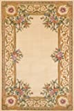 Momeni Rugs HARMOHA-07IVY5080 Harmony Collection, Traditional Area Rug, 5' x 8', Ivory