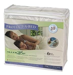 """AllerZip Waterproof Bed Bug Proof Zippered Bedding Encasement, Queen 13""""/33 CM DEEP Size (Fits 11 - 18 in. H)"""