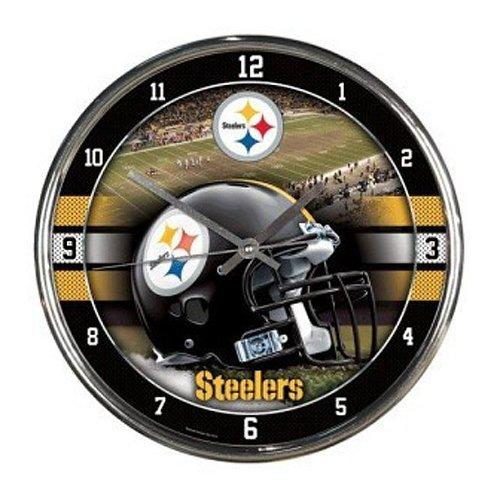 NFL Pittsburgh Steelers Chrome Clock