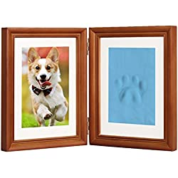 pawprints memorial photo picture frame puppy dog personalized wooden frame kit 5 x - Dog Memorial Picture Frames