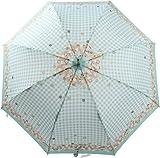 OLVEdesOLIVE(オリーブデオリーブ/オリーブ・デ・オリーブ) 60cm レディース アンブレラ 傘 雨傘  (花柄) (サックス)
