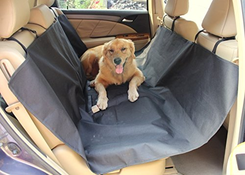 Pet Seat Cover Deluxe , Black, Hammock And Standard,, Waterproof, Seat Belt Slots, Dog Back Seat Protector For Cars/Auto/Suvs/Trucks Vehicles Pet Car Seat Covers Rear/Back Seats (Formosa Seat Cover For Pets compare prices)