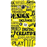 For Samsung Galaxy On5 (2015) :: Samsung On 5 Word Pattern ( Word Pattern, Design, Thinking, Good Quotes, Yellow Background ) Printed Designer Back Case Cover By FashionCops
