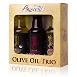 Amoretti Olive Oil Trio 3 Pack 50ml (Olive Oil, Vinegar & Vinaigrette)