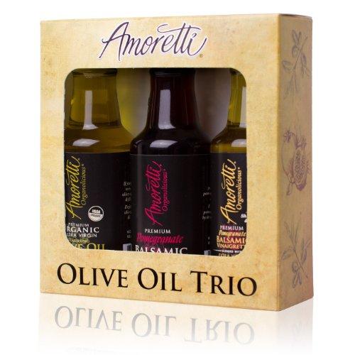 Amoretti Olive Oil Trio 3 Pack 50ml (Olive Oil, Vinegar & Vinaigrette)