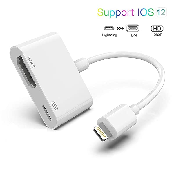 iPhone Lightning to HDMI Adapter Lightning Digital HDTV AV 1080P Projector Cable