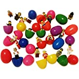 20 Easter eggs with 20 mini toy figures + a customize Deals with Service Drawstring bag filled with Easter Tattoos. Perfect Easter gift for kids