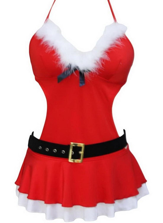 Lukis Damen Weihnachten Kostüm Dessou Weihnachtskeid Babydoll günstig