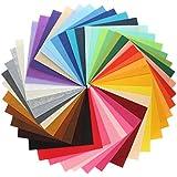KINGSO 42PCS Assorted Color Felt Fabric Sheets Patchwork Sewing DIY Craft 28*30cm