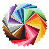 KINGSO 42PCS Assorted Color Felt Fabric Sheets Patchwork Sewing DIY Craft 28*30cm