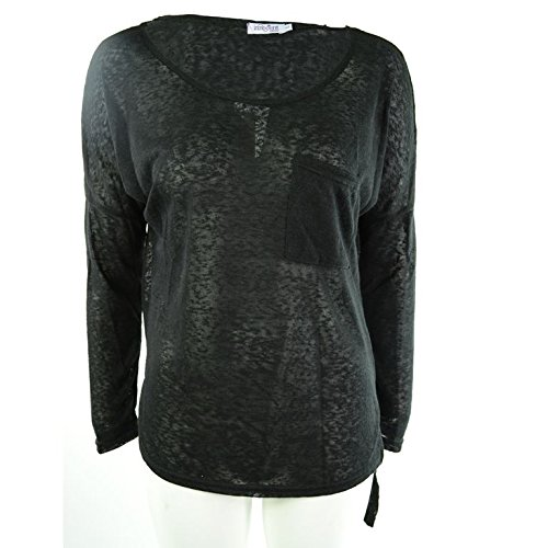 Innocenti Lifesty Casual Top donna nero Goth Emo Punk Black S