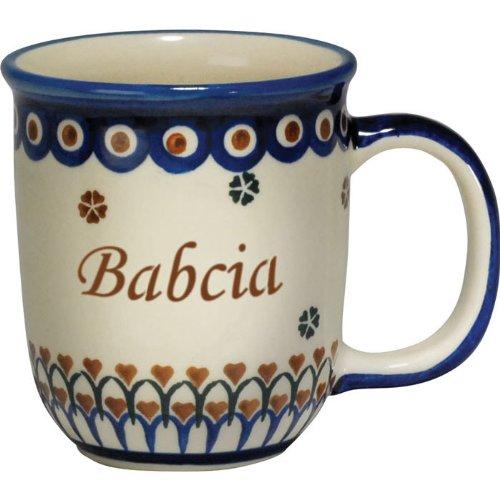 Order Polish Pottery Wiza Tea Cup 3 Piece Set Mug Strainer