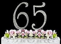 Rhinestone Cake Topper Number 65