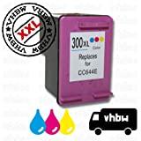 Ink / Printer CARTRIDGE refill colour compatible with HP No.300 / CC644EE for Envy 100 D410 e-All-In-One etc.