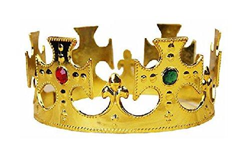 コスプレ小物 王冠 王様の冠 キングクラウン ゴールド フリーサイズ