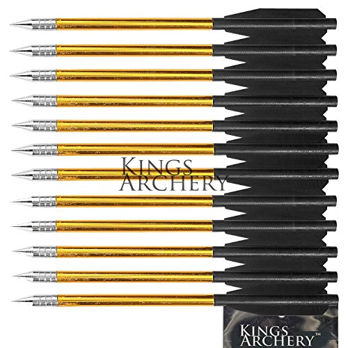 KingsArchery® Crossbow Arrows Aluminum (12 Pack)