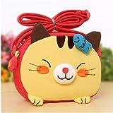 Big Mango Super Cute 3 D Cat Design Children Cartoon Messenger Bag Kids Shoulder Bag Crossbody Handbag Yellow