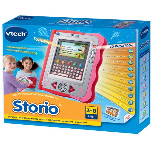 hasbro-vtech-storio-console-rosa-cartuccia-italiano