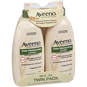 Aveeno Active Naturals Daily Moisturizing Lotion, 18-Ounce Pump (Pack of 2)