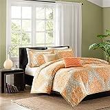 Intelligent Design Senna 5 Piece Comforter Set, King/California King, Orange