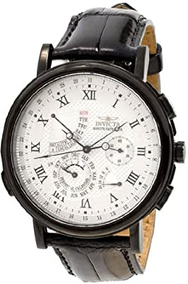 Invicta Men's Black Minute Repeater White Dial Black Bezel Alarm Watch from Invicta