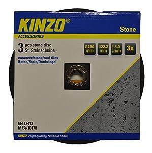 Kinzo 71773 Disque pierre 230 mm 3 pièces