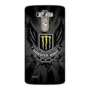 Enticing Army M Multicolor Back Case Cover for LG G3