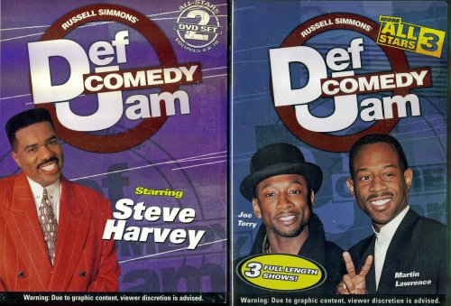 Def Comedy Jam Starring Steve Harvey Vol. 4,10 & Def Comedy Jam Starring Joe Torry, Martin Lawrence - More All Stars 3 - 2 HBO Black Comedy Specials DVDs (Bernie Mac Season 2 compare prices)