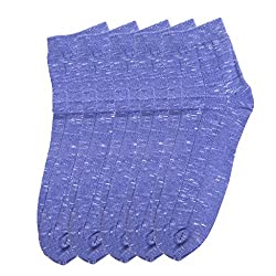 HANS Executive melange Ankle length socks for men (Pack of 5) (a5blu_blue)