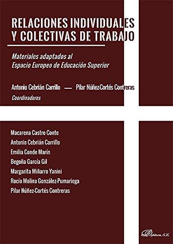 Relaciones individuales y colectivas de trabajo . Materiales adaptados al Espacio Europeo de Educación Superior