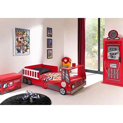 Vipack SCTDFT Toddler Fire Truck Lit Enfant MDF Rouge 157 x 77 x 60 cm