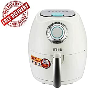 SToK ST-AF01 2.6 Litre 1350-Watt Air Fryer with Smart Rapid Air Technology & Double Layer Grill for Air Fryer absolutely free (Fry, Grill, Bake & Roast) With One Year Warranty