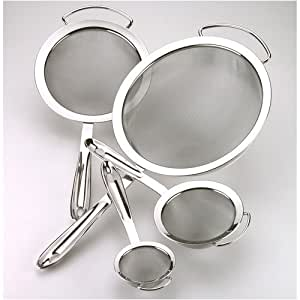 All-Clad Stainless Steel 4 Piece Nesting Strainer Set