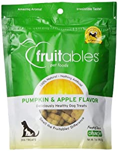 Fruitables Pumpkin & Apple Crunchy Dog Treats 1-7 oz Pouch