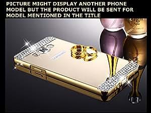 CLASSICO Luxury Aluminium Bumper Plus DIAMOND Mirror Acrylic Back Cover For LENOVO K5/K5+