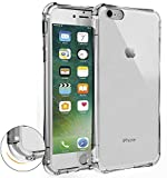 iPhone 7 ケース【Qosea】iPhone7 4.7インチ カバー 高品質TPU シリコン ケース 落下防止 防指紋 超薄型、軽量TPU素材 ケース ソフト クリア (iPhone 7, 透明)
