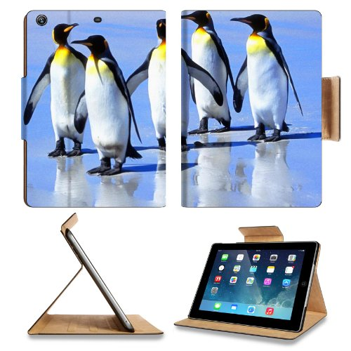 Penguin King Emperor Birds Great Auks Apple Ipad Air Retina Display 5Th Flip Case Stand Smart Magnetic Cover Open Ports Customized Made To Order Support Ready Premium Deluxe Pu Leather 9 7/16 Inch (240Mm) X 7 5/16 Inch (185Mm) X 5/8 Inch (17Mm) Luxlady Ip front-252729