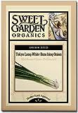 Sweet Garden Organics Tokyo Long White Bunching Onion - Heirloom Seeds (150 count)