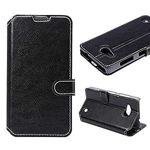 Asmart Premium Pu Leather Flip Case Cover for Microsoft Lumia 550 , Card Slot Design, Stand Function (Black)