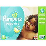 Pampers Baby Dry Economy Pack Plus, Size 5, 160 Count