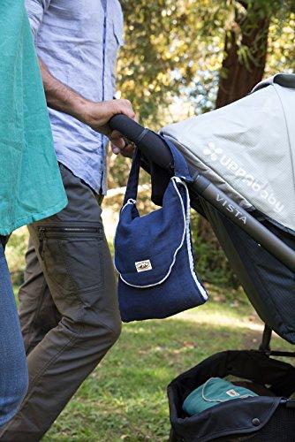 Poncho Baby Organic Diaper Bag: Pack-N-Run Navy Blue/Gray