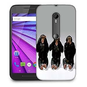 Snoogg Chimpanese Designer Protective Back Case Cover For MOTOROLA G3