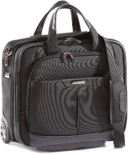 Samsonite Pro DLX 3 Rolling Tote 16.4 inch Laptop Trolley Black