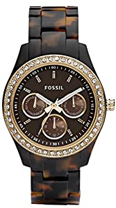 Brown Stella Multifunction Resin Watch by Fossil